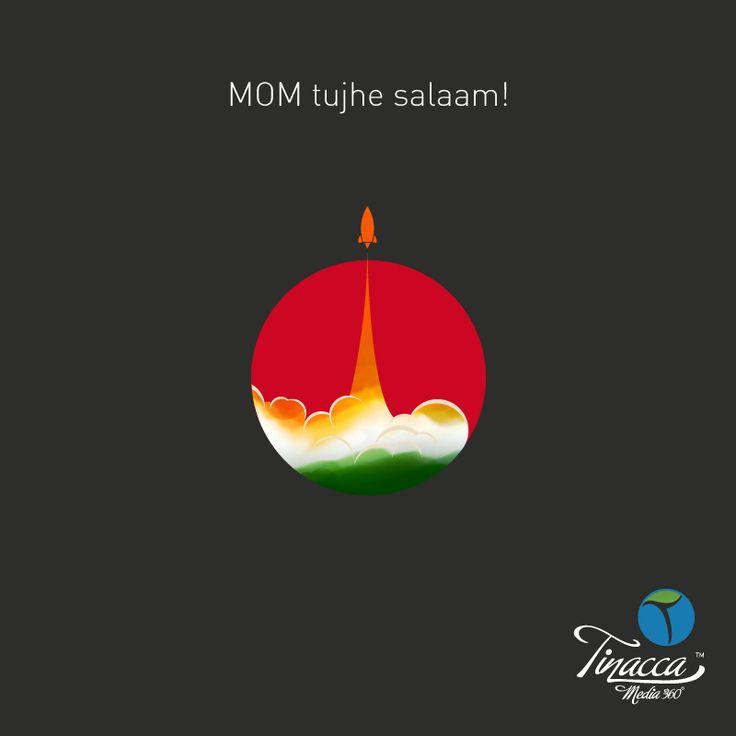 """MOM tujhe salam"". Tinacca Wishing ISRO on their achievement."