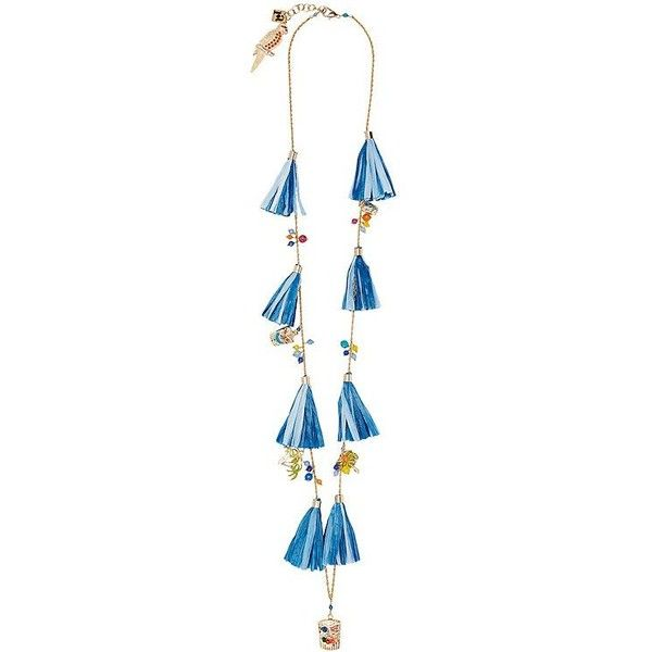 Rosantica Women's Aloha Necklace ($298) ❤ liked on Polyvore featuring jewelry, necklaces, rosantica, hawaiian jewelry, blue jewelry, blue necklace and long blue necklace