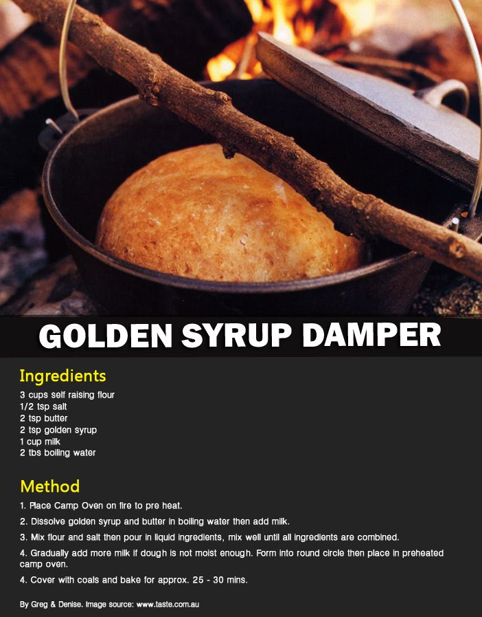 Perfect for dessert or with a cuppa sitting beside the fire #campingrecipe #outdoorconnection #dessert #goldensyrup