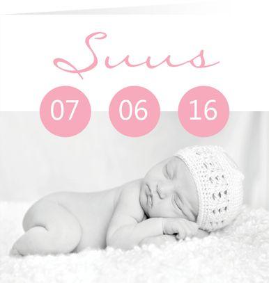 Suus C - Unieke geboortekaartjes met foto  www.kaartjevanons.nl