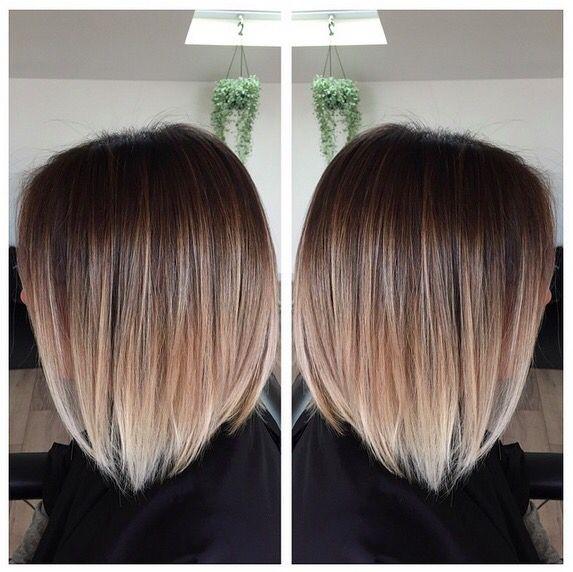 Tie and dye sur carré plongeant | Modèles de cheveux, Cheveux mi long, Coiffure couleur