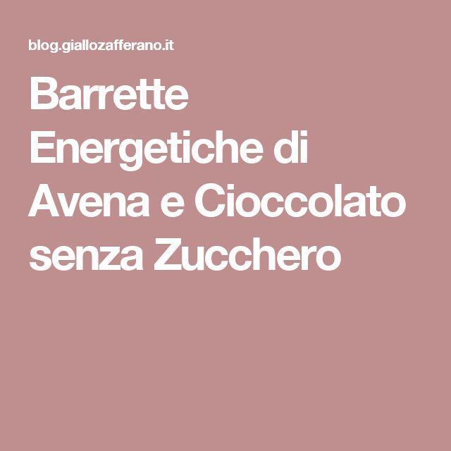 Barrette Energetiche di Avena e Cioccolato senza Zucchero