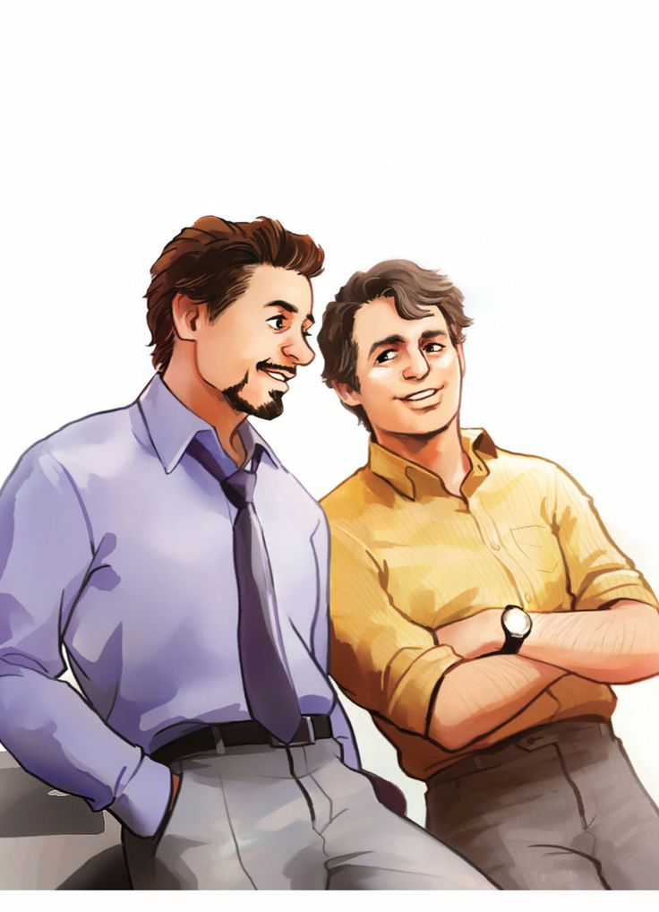 Tony and Bruce. How can this just look like them, even in a fairly simple cartoon style? I wish I could do that with people I knew, somehow make a cartoon that looked like them.