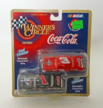 Nascar drivers Dale Earnhardt Jr and Sr Collectible Hasbro Winner's Circle Coca Cola Cool Customs Stock Cars.  1957 Chevrolet Bel Air Hardtops NCC120   ...   For Sale at