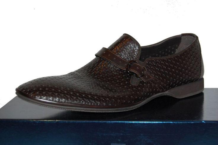 Fabi Men's Brown Loafer Casual Dress Buckle Stretch Italy Shoes Sz US 12 EU 45  #Fabi #LoafersSlipOns