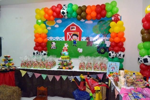 Decoración para fiesta infantil motivo de granja | Posot Class
