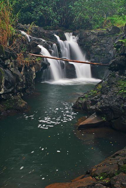 Ho'opi'i Falls Swimming Hole Kauai, Hawaii... what a gorgeous place to go for a swim!