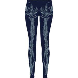 ELLIE GOULDING Skeleton Floral Sublimated Leggings Leggings