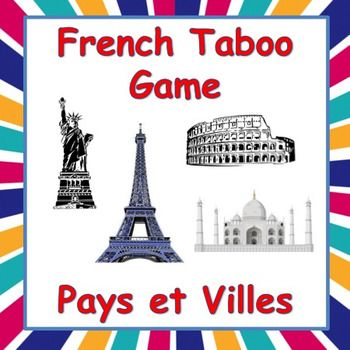 Playing TABOO in French is a great way to get students to speak French and learn a lot of new vocabulary.  This game focuses on different cities and countries around the world. It is simple to modify and use with beginners and advanced students alike.