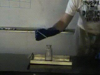 If you ever need some improvised rocket fuel, just drop a catalyst into some potassium chlorate and sugar [GIF]