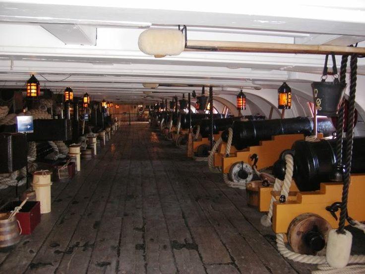 HMS Victory's Gun Deck - Not much head room