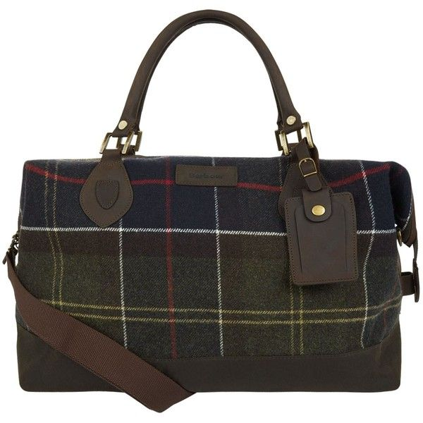 Barbour Lochy Explorer Bag (€270) ❤ liked on Polyvore featuring bags, handbags, barbour bags, barbour, tartan bag, tartan purse and holdall bag