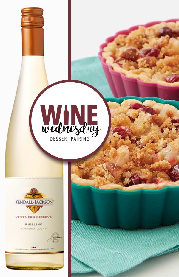 Wine Wednesday Dessert Pairing | Wilton Cake Decorating | Cranberry Pear Tarts and Vintner's Reserve Riesling