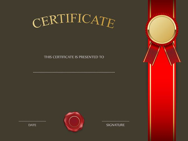 26 best CERTIFICATE TEMPLATES images – Certificate Layout
