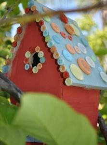 Button Birdhouse