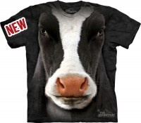Omg!  I can't decide if this cow face tshirt is beyond creepy or the most amazing thing ever.