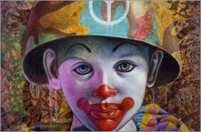 Ron English - Camo Peace Clown