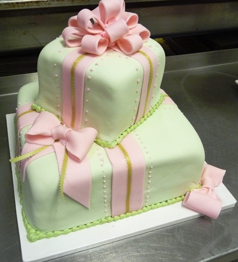Cake presents with bows