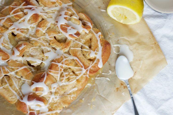 Snegle med marcipan og lemon curd