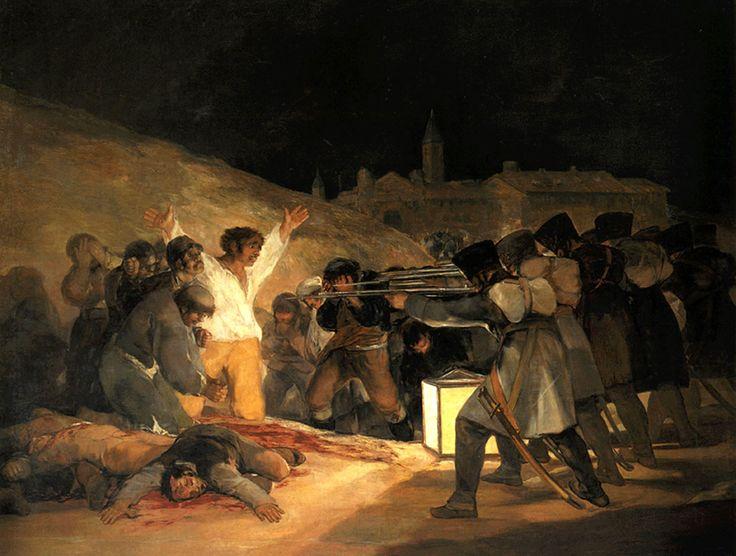 """""""3 maggio 1808"""", Francisco Goya, 1814; olio su tela, 266×345 cm; Museo del Prado, Madrid."""