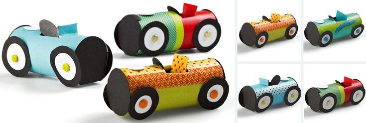 Créer des petites voitures de courses en carton avec Wesco Family