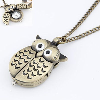 Ruffled Bronze Owl Pendant Alloy Korean Necklaces Bronze. Small and catchy. REPIN if you like it.😍 Only 84.5 IDR