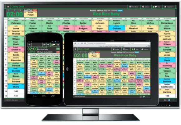 LOVE!!! Online Fantasy Draft Board | Clicky Draft