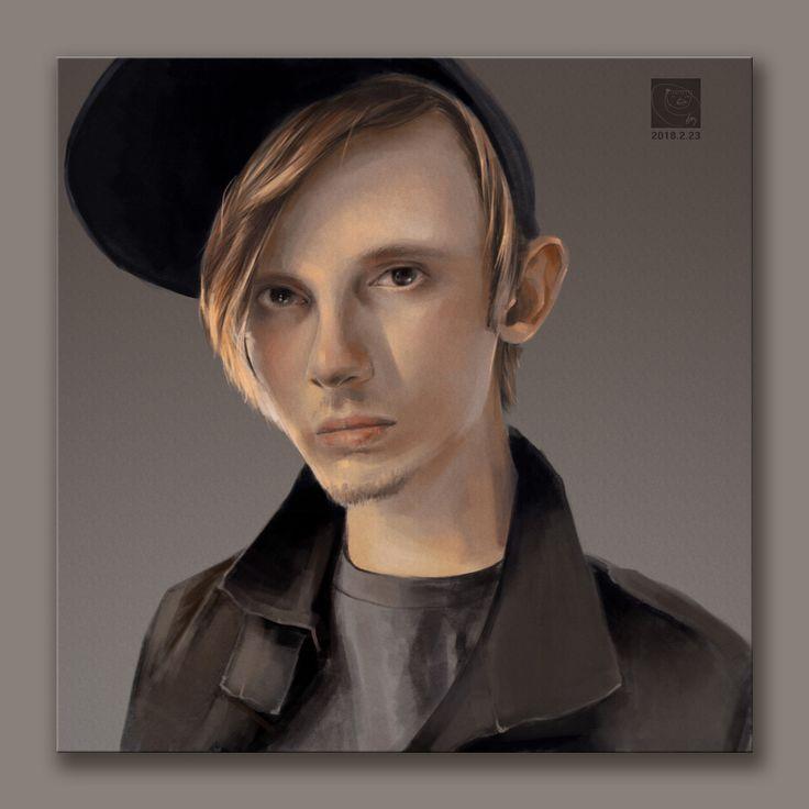 Waterflame (Norwegian composer) Portrait, eunbi ko on ArtStation at https://www.artstation.com/artwork/0wJKK