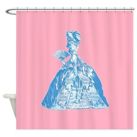 18th Century Lady Blue Shower Curtain on CafePress.com
