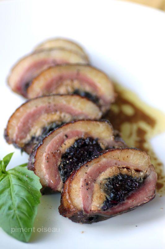 Magret farci au foie gras & à la confiture d'oignons... à cuire à la Plancha!