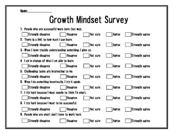 Student Growth Mindset Survey                                                                                                                                                                                 More