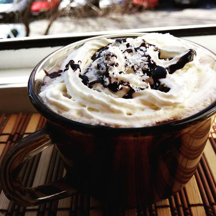 Coconut milk + coconut flakes + coconut cream coffee. Delicious!