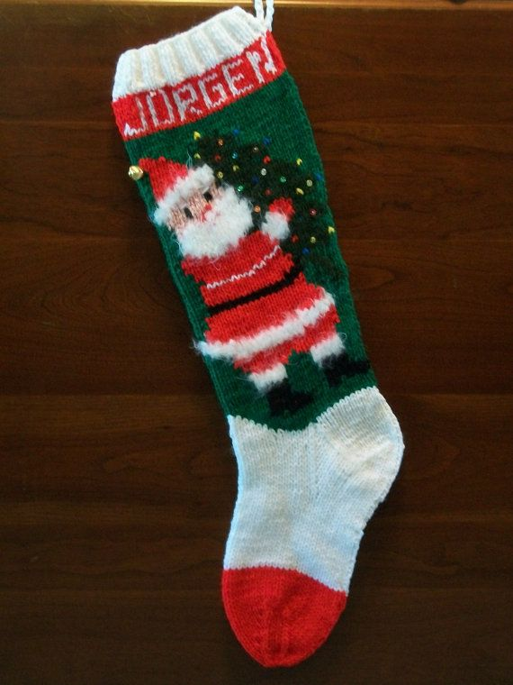 Handmade Personalized Knitted Christmas Stockings