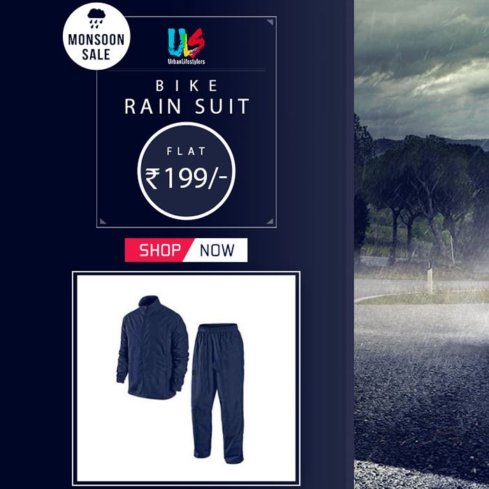 Monsoon Sale! Get #bike #rainsuit at big discount. http://goo.gl/YEOEIY #autofurnish #bikeaccessories #monsoonsale