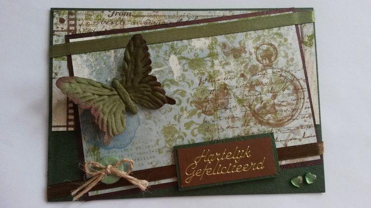 Vlinder kaart gemaakt!