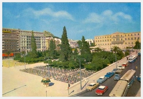 Syntagma in Athens, Greece 1960