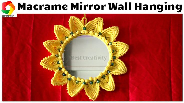 Easy tutorial of Macrame Mirror Wall Hanging | DIY Wall Hanging | Macrame Mirror Wall Piece - YouTube