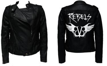 Black Veil Brides merch leather jacket | There's a new jacket available on Black Veil Brides' merch store that ...