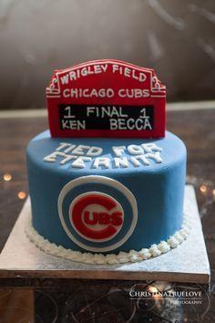 wrigley field cake - Google Search