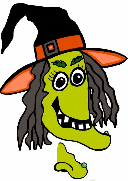 Printable Halloween game - pin the nose on the witch!