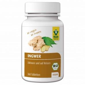 Bio Ingwer Tabletten von Raab Vitalfood