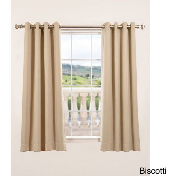 Exclusive Fabrics Thermal Blackout Grommet 63-inch Curtain Panel Pair ($52) ❤ liked on Polyvore featuring home, home decor, window treatments, curtains, gold, blackout curtain panels, thermal curtains, grommet thermal curtains, blackout window curtains and thermal window curtains