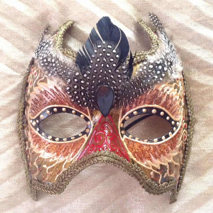 """Venetian costume mask handmade, wearable, wall decoration, in golden shades brown and black, """"Owl mask"""" by EthnicDrops on Etsy https://www.etsy.com/listing/384546558/venetian-costume-mask-handmade-wearable"""