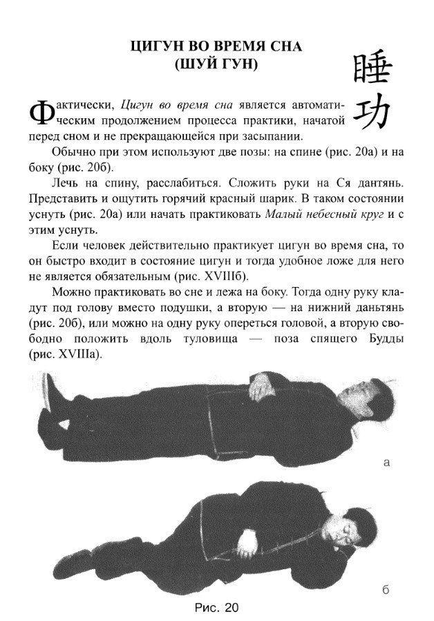 Цигун во время сна (фото ВКонтакте Цигун (Прага))