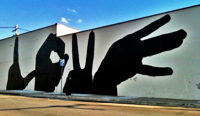 LOVE wall art, Baltimore