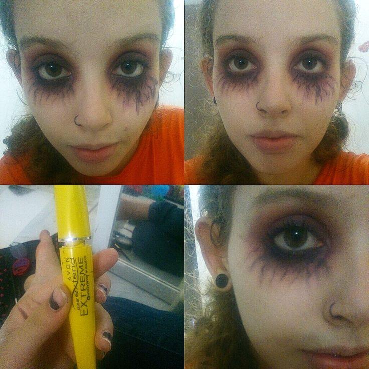 Passo a passo olhos de vampiro