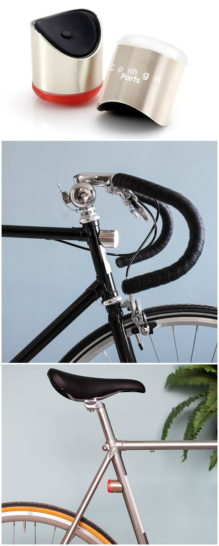 Combining magnets and LEDs, the Magnetic Bike Lights set looks good, works well and can be fitted and removed instantly. #affiliate
