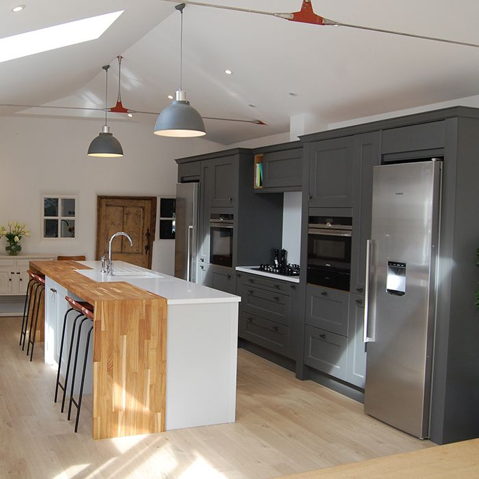 Barn Conversion Kitchen Grey And White Tones Www.nestkitchens.co.uk