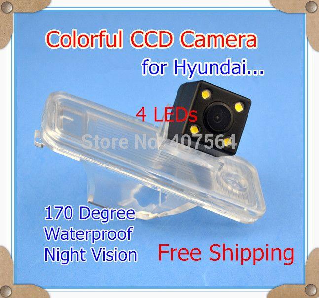 Factory selling, HD CCD 4 LEDs Car parking reverse rear view camera for 2013 Hyundai New Santa fe IX45 170 Degree night vision