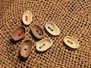 Let's Make Buttons of Pistachio Nut Shells | Livemaster - handmade